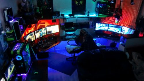 ultimate-gaming-room-setup-contemporary-1-my-furious-pc-gaming-rig-2013-tron-derezzed-remix-youtube