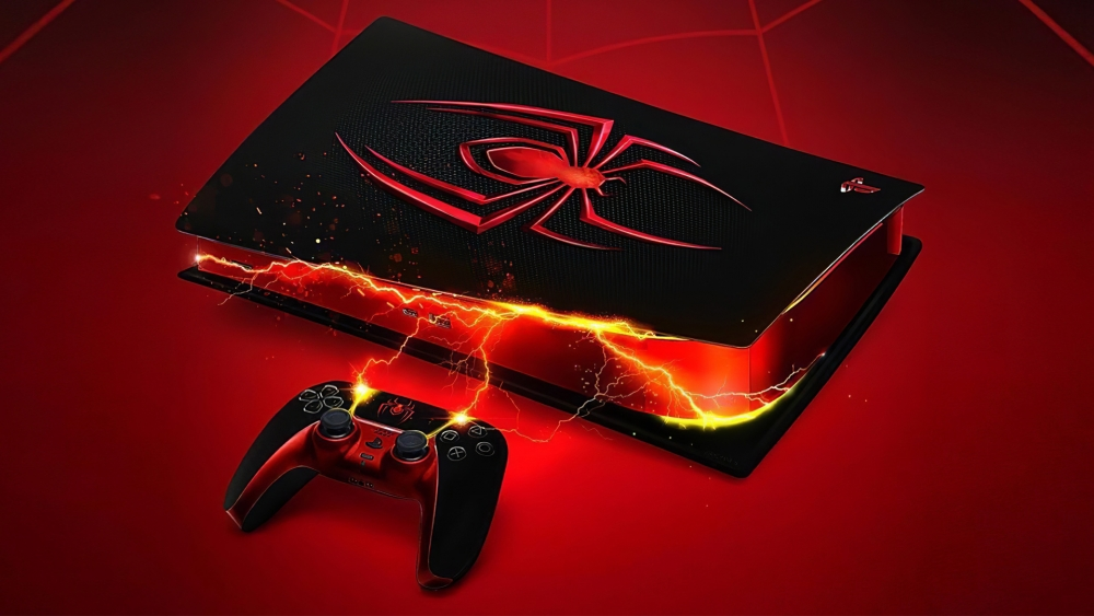 Ps5 carcasa personalizada spiderman